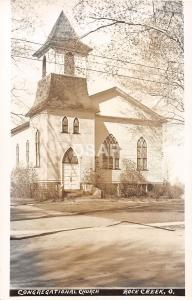 Ohio Postcard Real Photo RPPC c1950s ROCK CREEK Congregational Church