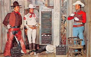 WM S Hart, Tom Mix, Ken Maynard, Movieland Wax Museum, Buena Park, CA Movie S...