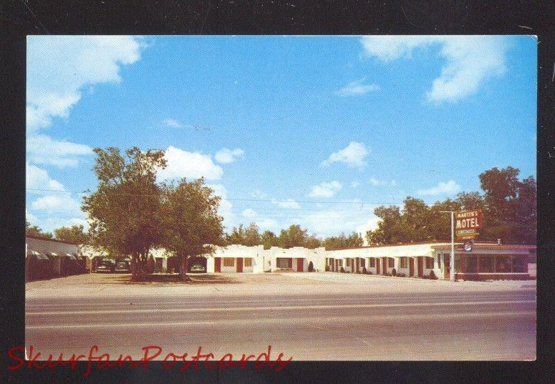 ALBUQUERQUE NEW MEXICO ROUTE 66 MARTEN'S MOTEL VINTAGE ADVERTISING POSTCARD
