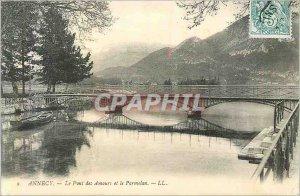 Postcard Old Annecy le Pont des Amours and Parmelan