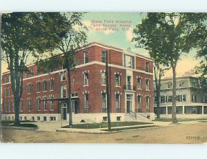 Divided Back HOSPITAL SCENE Glens Falls New York NY hs0741