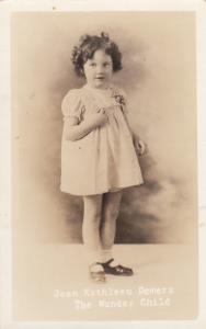 RP, TRACADLE, Nova Scotia, Canada , 1938 ; The Wonder Child
