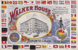 TORONTO, Canada, PU-1910; Walker House, World Flags, House of Plenty, Leaves