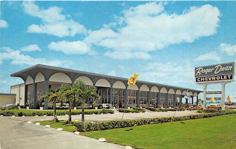 Attractive West Palm Beach FL Roger Dean Chevrolet Dealership Postcard