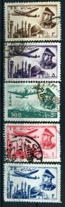 509826 IRAN PERSIA 1953 year airmail stamps Shah Pahlavi PLANE