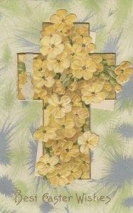 WINSCH ; EASTER Booklet Postcard , Yellow Flowers , 1911