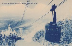 White Mountains , New Hampshire , 1930s : Cannon Mt Aerial Tramway
