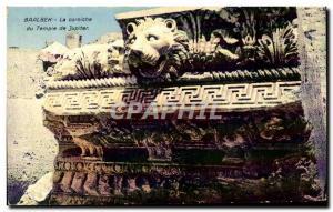 Old Postcard Baalbek La Corniche Du Temple Of Jupiter Lebanon