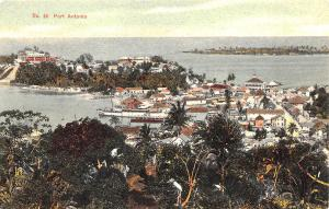 Port Antonio Jamaica Birdseye View Postcard