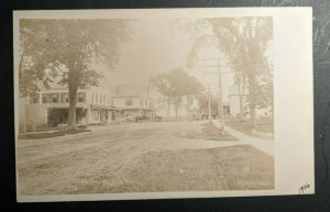 Mint Vintage The Corner Wells Maine Horse and Carriage Real Photo Postcard RPPC