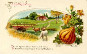 Greeting - Thanksgiving.   Artist: Heinmuller
