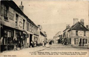 CPA Verberie - Carrefour de la Fontaine et Rue du Marche (259598)