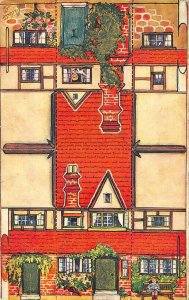 Raphael Tuck 3387 Model Cottage Card Number VIII Postcard