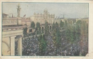 CHICAGO, Illinois, 1911; White City, Canal of Venice & Free Air Show