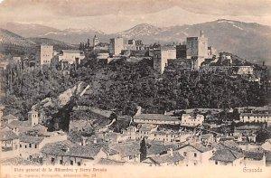 Vista general de la Alhambra y Sierra Nevada Granada Spain Unused