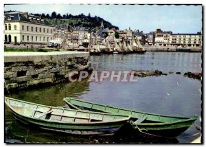 Modern Postcard Honfleur Fishing boats at Port