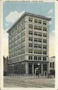 American State Savings Bank Lansing MI 1923 Missing Stamp