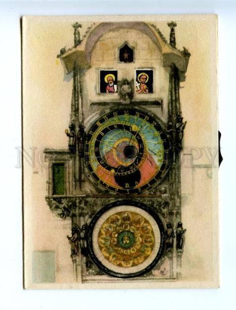 164139 Prahy Prag Czech Republic PRAGUE clock MECHANICAL pc