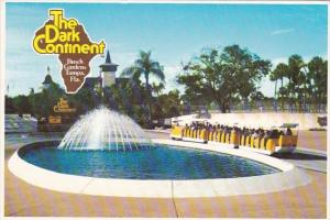 Florida Tampa Busch Gardens Fountain and Tram
