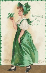 AS: CLAPSADDLE, PU-1909; The wearing of the Green Girl in bonnet, Clover
