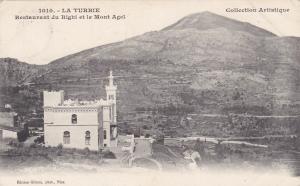 LA TURBIE , France , PU-1905 ; Restaurant du Righi et le Mont Agel