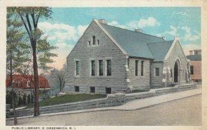 EAST GREENWICH , Rhode Island , 1900-10s ; Public Library