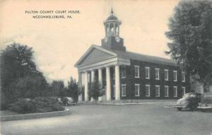 McConnellsburg Pennsylvania Fulton County Court House Antique Postcard J74641
