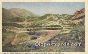 Santa Fe Railway, Los Angeles, CA, CA USA Trains, Railroads 1946 light wear p...