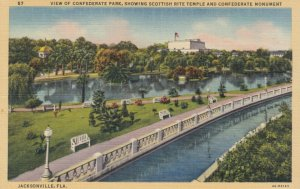 JACKSONVILLE, Florida, 1930-40s ; Confederate Park & Monument