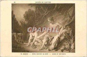Old Postcard Louvre Museum Boucher Diana Leaving the Bath