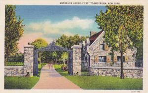 Entrance Lodge, Fort Ticonderoga, New York, 30-40s