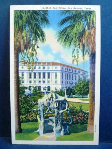Postcard TX San Antonio US Post Office