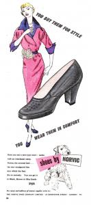 Vintage Repro Norvic Shoe Fashion Postcard, You buy them for style OS122