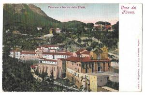 Italy Cava dei Tirreni Panorama Facciata della Trinita UDB
