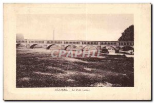 Beziers Old Postcard the canal bridge