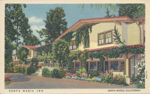 Santa Maria Inn, Santa Maria, California, early postcard, Unused