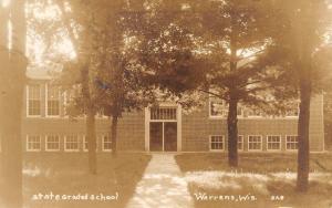 Warren Wisconsin~State Graded School~1940 RPPC Betty Stitt of Bay Village PC