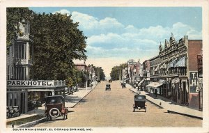 South Main Street, El Dorado Springs, Missouri, Early Postcard, Unused
