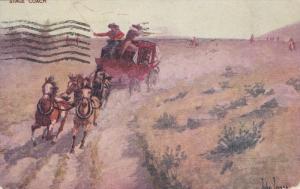 AS: John Innes ; Western USA Art , PU-1907 ; Stage Coach