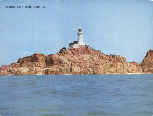 Giant Size Jersey Postcard, Corbiere Lighthouse Channel Islands 202x152mm OS228