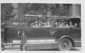RPPC Autobus Köln Cologne Germany Tour Bus 1925 Vintage Photo Postcard