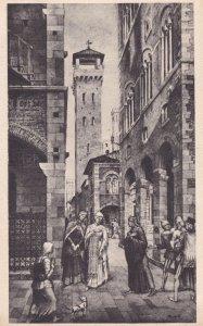 L'Incontro Di Dante Con Gentucca Lucca Italy Antique Postcard