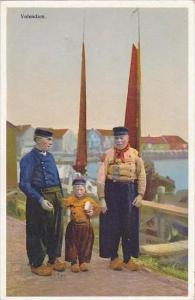 Netherlands Volendam Men In Native Costume 1937