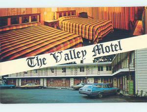 Unused Pre-1980 OLD CARS & VALLEY MOTEL Pleasant Valley New York NY n9614-22