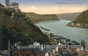 Goarshausen Germany, Deutschland Postcard Burg Katz Goarshausen Burg Katz