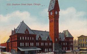 Illinois Chicago Dearborn Street Depot 1912