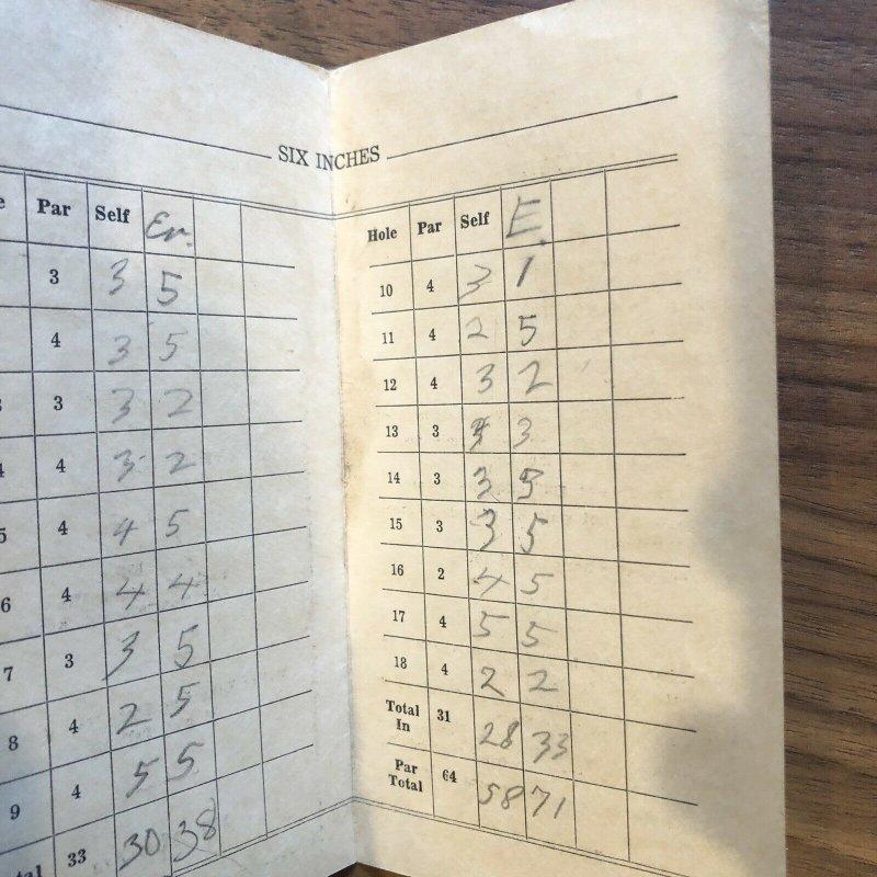 PINE GROVE - Miniature Golf Course  - 1955 - Brochure - Score Card - Vintage