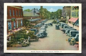 5290 - CHATHAM Ontario 1930s Market Square. Cars, Trucks