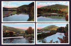 NY Lot 4 Vintage River WALTON NEW YORK Postcards