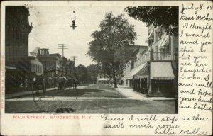 Saugerties NY Main St. c1905 Postcard